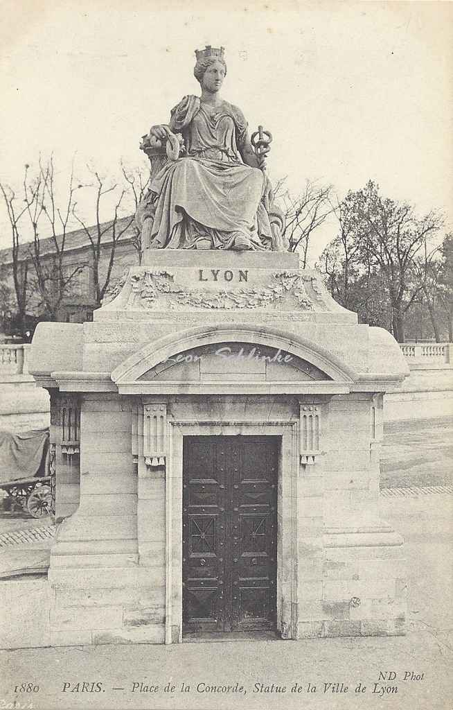ND 1880 - Place de la Concorde, Statue de la Ville de Lyon