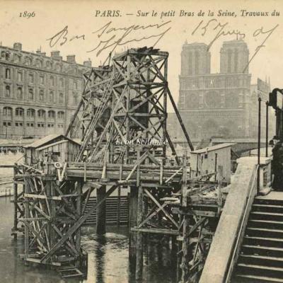 ND 1896 - Travaux sur le petit Bras de la Seine