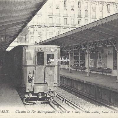 ND 1918 - Chemin de Fer Métropolitain Ligne 2 Sud à Passy
