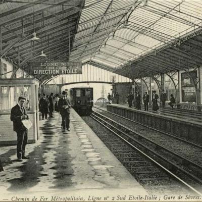 ND 1922 - PARIS - Ligne n°2  Sud Etoile-Italie, Gare de Sèvres