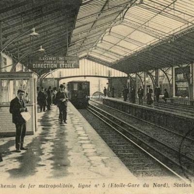 ND 1922 - PARIS - Ligne n°5 ( Etoile-Gare de Nord) Station Suffren