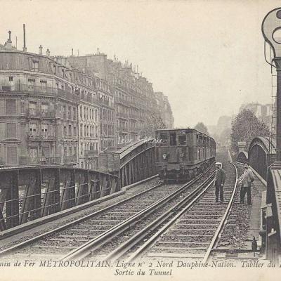 ND 1930 - Ligne n°2, Sortie du Tunnel Bd Barbès