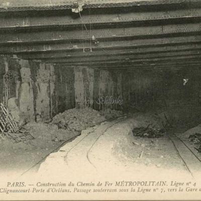 ND 1977 - Passage souterrain sous la Ligne 7 vers Gare de l'Est