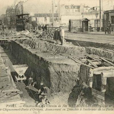 ND 1980 - Travaux vers la Porte d'Orléans