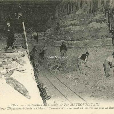 ND 1981 - Travaux en souterrain sous la Rue d'Alsace