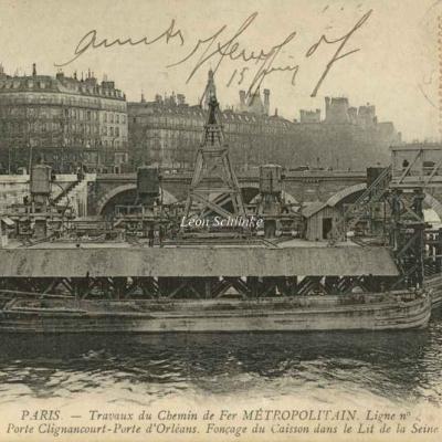 ND 1998 - Travaux dans le lit de la Seine