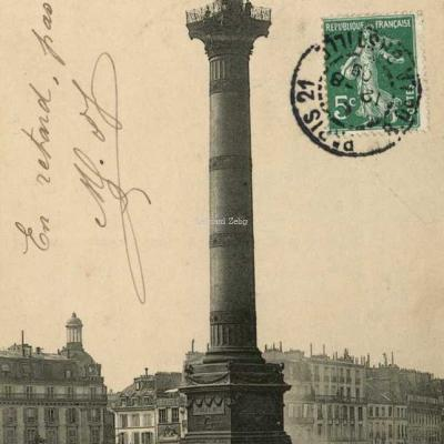 ND 2913 - PARIS - La Colonne de Juillet, Place de la Bastille