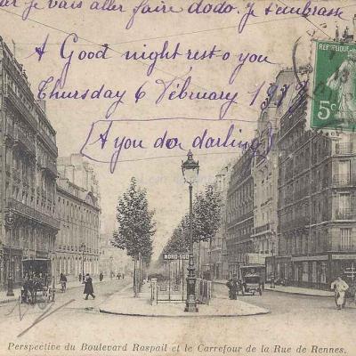 ND 3804 - Perspective du Bd Raspail et Carrefour rue de Rennes