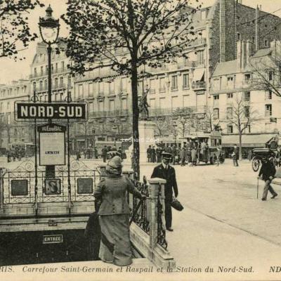 ND 3813 - PARIS - Carrefour St-Germain et Raspail - Métro Nord-Sud