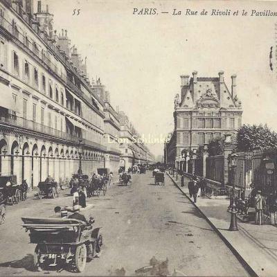 ND 55 - La Rue de Rivoli et le Pavillon de Marsan
