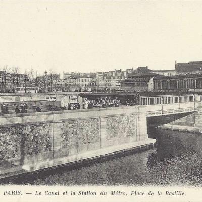 ND 56 - Le Canal et la Station du Metro, place de la Bastille