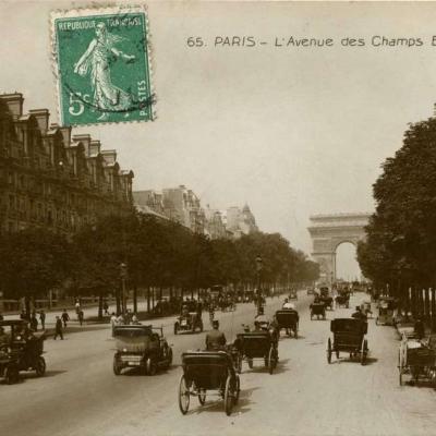 ND 65 - PARIS - L'Avenue des Champs Elysées