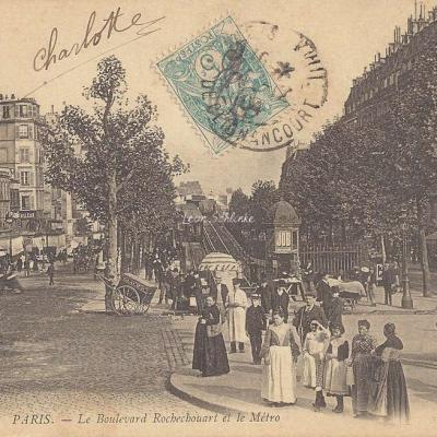 ND 656 - Le Boulevard Rochechouart et le Métro