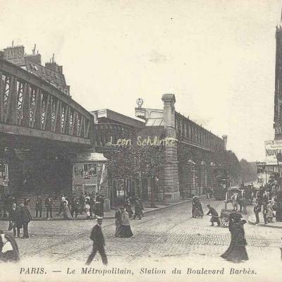 ND 676 - Le Métropolitain, Station du Boulevard Barbès