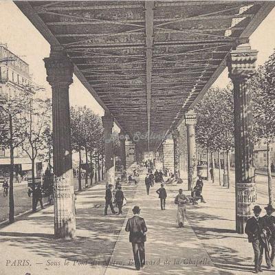 ND 689 - Sous le Pont du Métro, Boulevard de la Chapelle