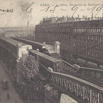 ND 690 - Le Metro,perspective du Bd de la Chapelle