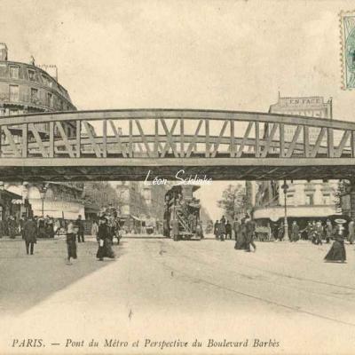 ND 693 - Pont du Métro et Perspective du Boulevard Barbès