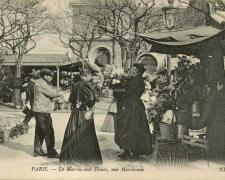ND 795 - Le Marché aux Fleurs, une Marchande