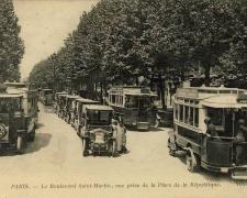 ND 3888 - PARIS - Le Boulevard Saint-Martin, vue prise de la Place de la République