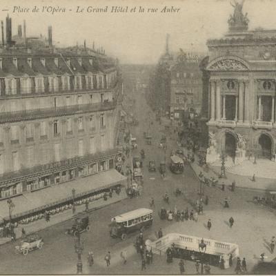 Abeille 42 - PARIS - Place de l'Opéra - Le Grand Hôtel et la rue Auber