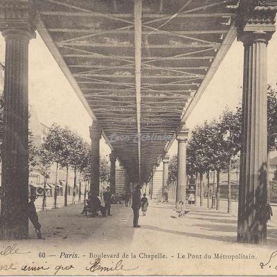 P.H. & C. 60 - Boulevard de la Chapelle  -  Le Pont du Métropolitain