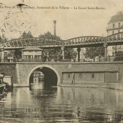 P.H & Cie 95 - Paris - Le Pont du Métropolitain, bd de la Villette - Le Canal St-Martin