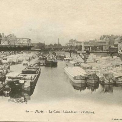 P.Helmlinger 80 - Paris - Le Canal Saint-Martin (Villette)