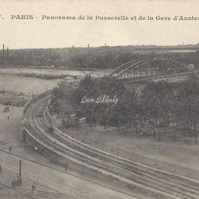 JH 497 - Panorama de la Passerelle et de la Gare d'Austerlitz