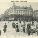 Breger A. - Paris - Place de la Bastille, sortie du Métropolitain