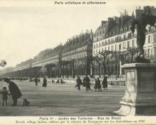 PARIS I° - Jardin des Tuileries - Rue de Rivoli