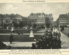 PARIS I° - Jardin des Tuileries rues de Rivoli et des Pyramides