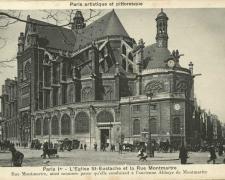 PARIS I° - L'eglise St-Eustache et le rue Montmartre