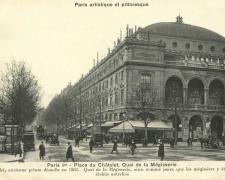 PARIS I° - Place du Châtelet, Quai de la Mégisserie