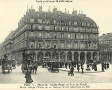 PARIS I° - Place du Palais Royal et Rue de Rivoli