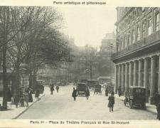 PARIS I° - Place du Théâtre Français et Rue St-Honoré