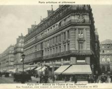 PARIS II° - Avenue de l'Opéra et rue Ventadour