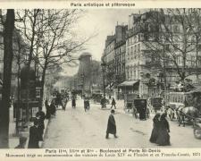 PARIS II°, III° et X° - Boulevard et Porte St-Denis