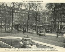 PARIS III° - Boulevard Sébastopol et Square des Arts et Métiers