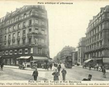 PARIS III° - Rue Turbigo et Rue Beaubourg