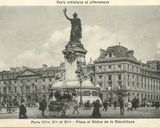 PARIS III°, X° et XI° - Place et Statue de la République