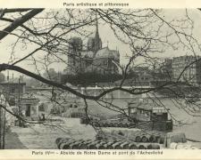 PARIS IV° - Abside de Notre Dame et pont de l'Archevêché