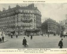 PARIS IV° - Avenue Victoria, Rue St-Martin