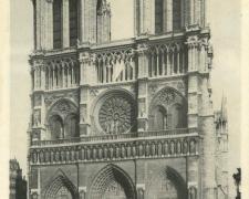 PARIS IV° - Eglise Notre Dame - Façade principale