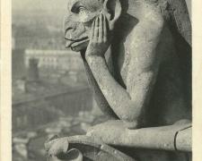 PARIS IV° - Eglise Notre Dame - Le Stryge, célèbre chimère