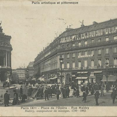 Bréger. A. - PARIS IX° - Place de l'Opéra - Rue Halévy