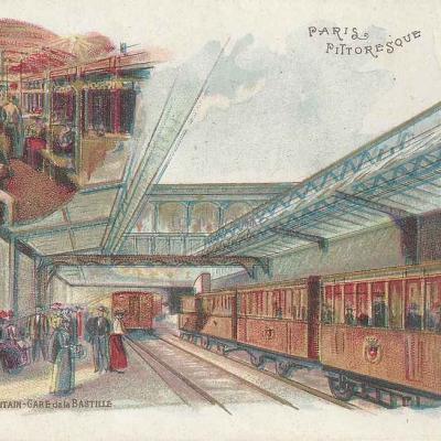 Paris Pittoresque - Le Métropolitain, Gare de la Bastille