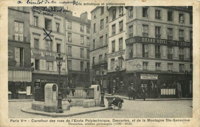 PARIS V° - Carrefour des rues de l'Ecole Polytechnique, Descartes, etc..