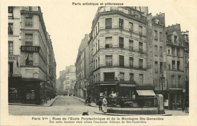 PARIS V° - Rues de l'Ecole Polytechnique et de la Montagne Ste-Geneviève