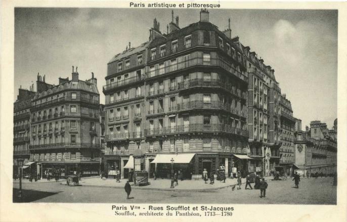 PARIS V° - Rues Soufflot et St-Jacques
