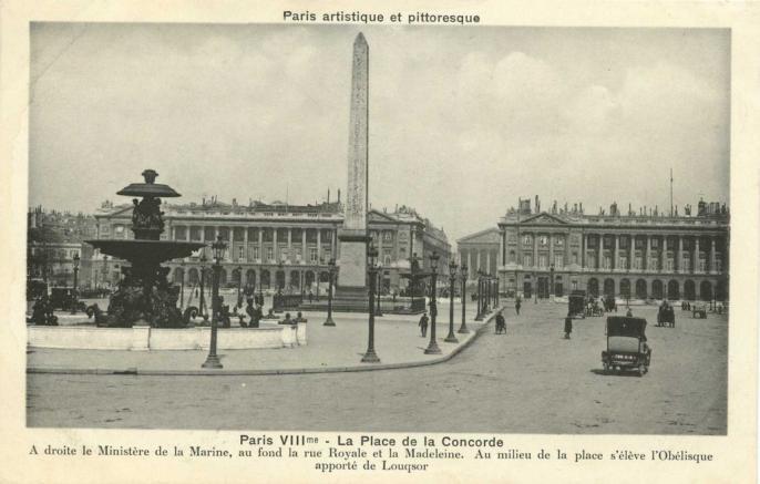 PARIS VIII° - La Place de la Concorde
